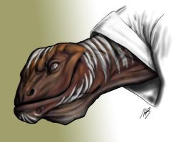 Reptilian Visitor by sketchbencky5