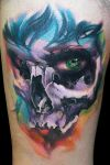 Woman Skull by maximolutztattoo