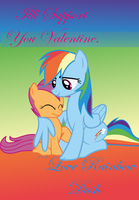 Rainbowdash and Scoots Valentine Card by InkKirby