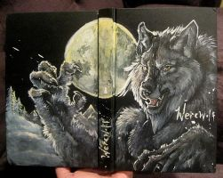 Werewolf sketchbook cover by Anarchpeace