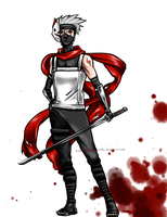 Commission - ANBU Kakashi by aquamarinetiger98