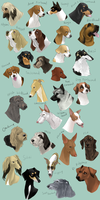 dog icons - HOUND GROUP by shelzie