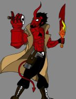 young hellboy by xoyooyox