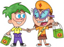Timmy and Tootie as Ferb and Gretchen by nintendomaximus