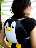 Penguin Plushie Backpack 4 by jloli