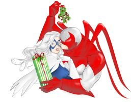 Hawk and Dove under the Mistletoe by Ayhe
