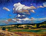 Clouds over Franconian Summer Landscape by Art-deWhill