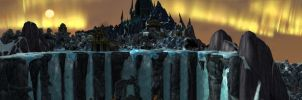 Wintergrasp Lake - Waterfall by Wishmasterok