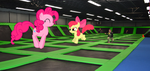 Ponies At The Trampoline Park by Hubfanlover678