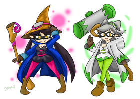 Squid Sister Mages by Xero-J