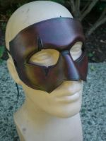 Scar Leather Half Mask by Skinz-N-Hydez