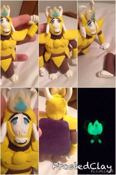 Sculpey: Undertale: Asgore by FrostedClayX