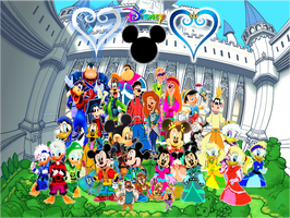 Disney Castle Kingdom Hearts Family and Friends by 9029561