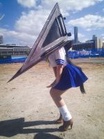SupaSnap: Pyramid head isn't THAT scary! by katyuskamoonfox