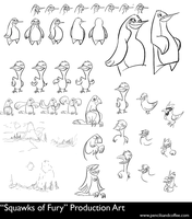 Squawks of Fury production art by luckyde