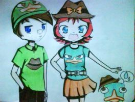 marie and thomas-version anime by amoelanimme