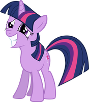 Twilight Sparkle Grinning Nervously by Sairoch