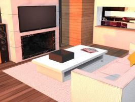 Modern Living Room by DarkCrawlerMC