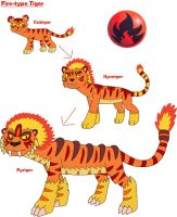 Fire-type Tiger by MCsaurus