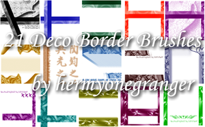 Deco Border Brushes Set 01 by hermyonegranger