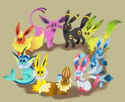 Eeveelutions by julitka