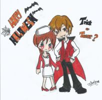 Leon y Claire will wish you a Happy Halloween by Ilwen