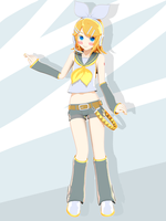 Super Color Rin Kagamine by RinXNeruXD
