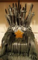 Game of Thrones: Iron Throne Cake by Stephanefalies