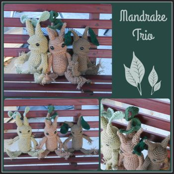 Mandrake Plushies by VelvetKey