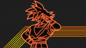 Goku Neon Wallpaper by GT4tube
