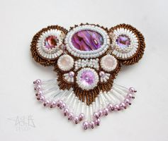 Bead Embroiderd Hair Clip I by annafjellborg