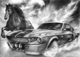 Shelby Mustang by shadowmarim