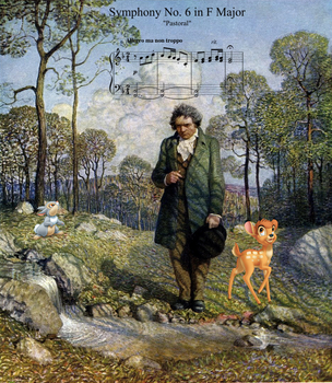 Beethoven meets Bambi and Thumper by the-acorn-bunch
