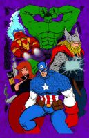Color for Avengers Print by rantz by jcastick