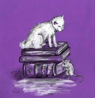 books and cats by lovelylittlesunshine