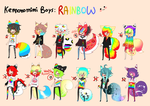 Kemonomimi - SPECIAL BATCH - RAINBOW BOYS -CLOSED by Ayuki-Shura-Nyan