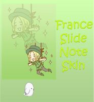 France Cosplay Slide Note Skin xwidget by Nekomimiarthur