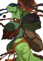 ninja turtles by tanggod