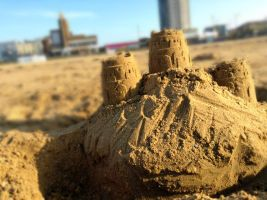 Building with sand by GraceDoragon