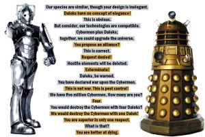 dalek vs cybermen 2 by blueAntimatter
