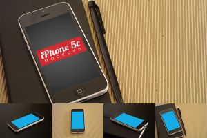 Clean iPhone 5c Mockups by pstutorialsws