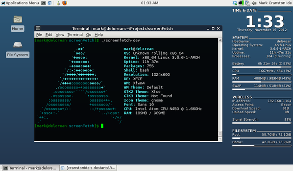 Arch Linux (with Conky!) by cranstonide