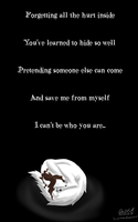 I can't be who you are by Devii-chan