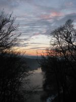 Nature 312 sunset over river by Dreamcatcher-stock