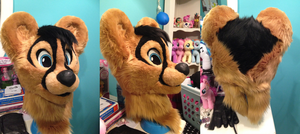 Completed 13 Fursuit Head by burgerphile