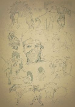 Naruto Doodles by Quill-q
