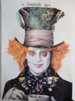 the mad hatter (Johnny Depp) by PtothefrigginB