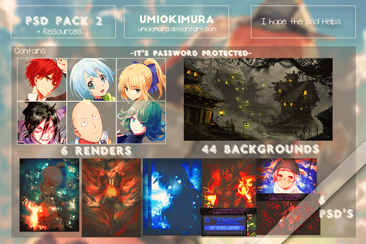 PSD Pack #2 + Resources by UmioKimura