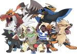 Commission - Francis' Pokemon Team by Tails19950
