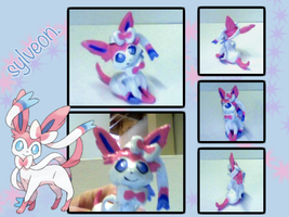 Sylveon Figure by saxophone-and-stuff